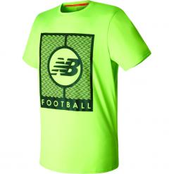 Koszulka treningowa MT732053EGL. Zielone koszulki sportowe męskie New Balance, na jesień, z materiału. W wyprzedaży za 99.99 zł.