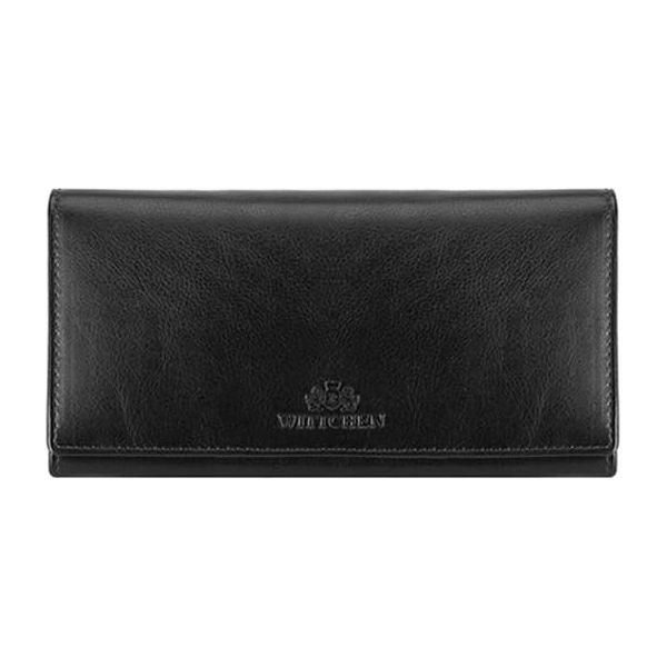 e1608695b3342 Skórzany portfel w kolorze czarnym - (S)10 x (W)19 cm - Portfele ...