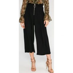Answear - Spodnie. Szare spodnie materiałowe damskie ANSWEAR, z poliesteru. W wyprzedaży za 99.90 zł.