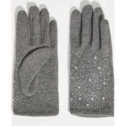 Rękawiczki z aplikacją - Szary. Rękawiczki damskie marki B'TWIN. W wyprzedaży za 14.99 zł.