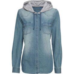 Koszula dżinsowa z kapturem bonprix niebieski. Koszule damskie marki SOLOGNAC. Za 49.99 zł.