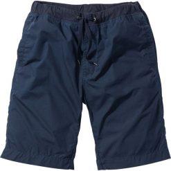Bermudy z wygodnym paskiem bonprix ciemnoniebieski. Niebieskie szorty męskie bonprix. Za 79.99 zł.