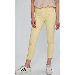 Answear - Spodnie. Szare spodnie materiałowe damskie ANSWEAR, z bawełny. W wyprzedaży za 49.90 zł.
