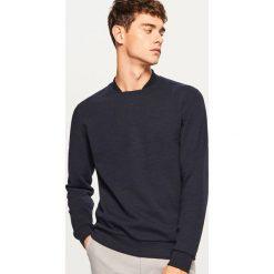 Bluza - Granatowy. Niebieskie bluzy męskie Reserved. Za 69.99 zł.