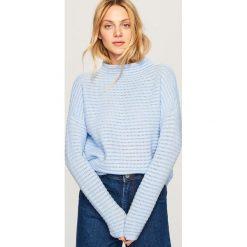 Sweter z półgolfem - Niebieski. Niebieskie swetry damskie Reserved. Za 119.99 zł.