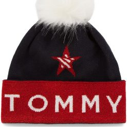Czapka TOMMY JEANS - Tjw Corporate Beanie AW0AW05983  901. Niebieskie czapki i kapelusze damskie Tommy Jeans, z bawełny. Za 229.00 zł.