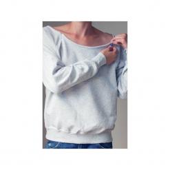 Szara bluza dla karmiących matek. Szare bluzy damskie One mug a day, z nadrukiem, z bawełny. Za 119.00 zł.