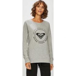 Roxy - Bluza. Szare bluzy damskie Roxy, z nadrukiem, z bawełny. W wyprzedaży za 169.90 zł.