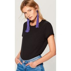 Koszulka oversize - Czarny. Czarne bluzki damskie Mohito. Za 29.99 zł.