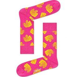 Happy Socks - Skarpetki Jaguar. Różowe skarpety damskie Happy Socks, z bawełny. W wyprzedaży za 29.90 zł.