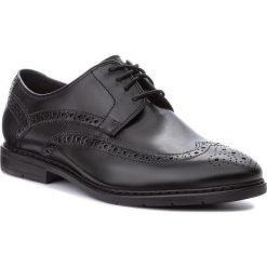 Półbuty CLARKS - Banbury Limit 261322427 Black Leather. Czarne eleganckie półbuty Clarks, z materiału. W wyprzedaży za 279.00 zł.