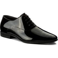 Półbuty BOSS - Evening 50370447 10193322 01 Black 001. Czarne eleganckie półbuty Boss, z lakierowanej skóry. W wyprzedaży za 699.00 zł.