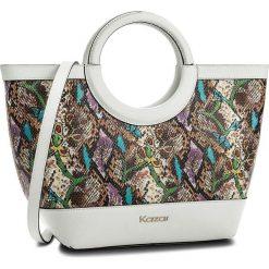 Torebka KAZAR - Sabrina 32499-08-99 Biały Kolorowy. Białe torebki do ręki damskie Kazar, w kolorowe wzory, ze skóry. W wyprzedaży za 549.00 zł.