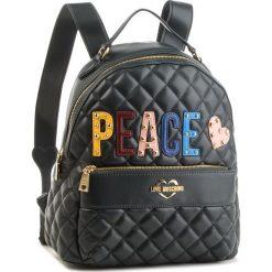 Plecak LOVE MOSCHINO - JC4227PP06KC0850  Verde. Czarne plecaki damskie Love Moschino, ze skóry ekologicznej, klasyczne. Za 929.00 zł.