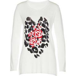 Sweter bonprix biel wełny - czarno-truskawkowy. Swetry damskie marki bonprix. Za 59.99 zł.
