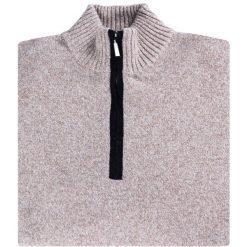 Sweter FILIPPO SWER000120. Brązowe swetry przez głowę męskie Giacomo Conti, z wełny. Za 199.00 zł.