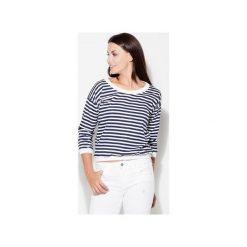Bluzka K204 Granat. Niebieskie bluzki damskie Katrus, w paski, z krótkim rękawem. Za 89.00 zł.