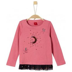 S.Oliver Koszulka Dziewczęca Z Cekinami 104 - 110 Różowy. Czerwone bluzki dla dziewczynek S.Oliver. Za 59.00 zł.