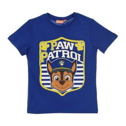 Koszulka w kolorze niebieskim. T-shirty dla chłopców Disney & Paw Patrol, z nadrukiem, z bawełny. W wyprzedaży za 19.95 zł.