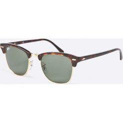 Ray-Ban - Okulary Clubmaster. Szare okulary przeciwsłoneczne męskie Ray-Ban, z acetatu. Za 499.90 zł.