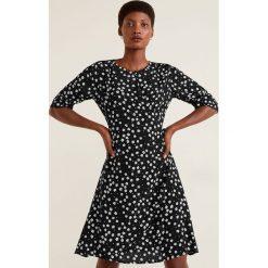Mango - Sukienka Paris. Szare sukienki damskie Mango, z tkaniny, casualowe, z okrągłym kołnierzem. Za 139.90 zł.
