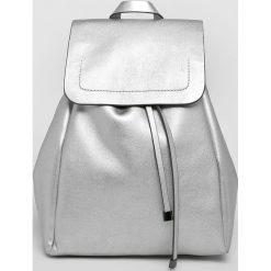 Pieces - Plecak. Szare plecaki damskie Pieces, ze skóry ekologicznej. W wyprzedaży za 149.90 zł.