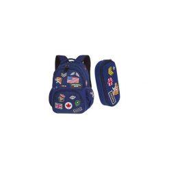 Plecak Coolpack Bentley Niebieski Z Naszywkami + Piórnik Campus. Niebieskie torby i plecaki dziecięce CoolPack, z materiału. Za 169.00 zł.