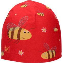 Dwuwarstwowa czapka Micro Double kid bee. Czerwone czapki dla dzieci LUM. Za 52.44 zł.