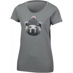 Columbia Koszulka Unbearable Tee Charcoal Heather S. Brązowe koszulki sportowe damskie Columbia, z materiału, z krótkim rękawem. W wyprzedaży za 75.00 zł.