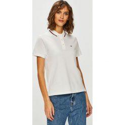 Tommy Jeans - Top. Szare topy damskie Tommy Jeans, z bawełny, z krótkim rękawem. Za 269.90 zł.