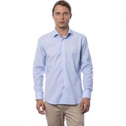 Koszula w kolorze błękitnym. Niebieskie koszule męskie Roberto Cavalli, Trussardi, z klasycznym kołnierzykiem. W wyprzedaży za 212.95 zł.