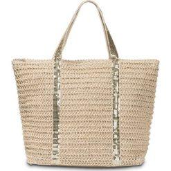 Torba plażowa shopper bonprix beżowo-złoty kolor. Brązowe torebki shopper damskie bonprix. Za 69.99 zł.