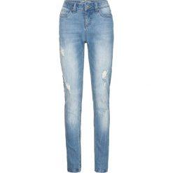 Dżinsy ze stretchem Boyfriend bonprix średni niebieski. Niebieskie jeansy damskie bonprix. Za 109.99 zł.