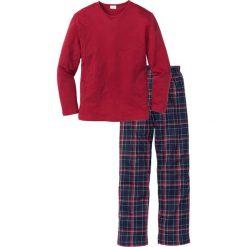 Piżama bonprix czerwony w kratę. Czerwone piżamy męskie bonprix. Za 74.99 zł.