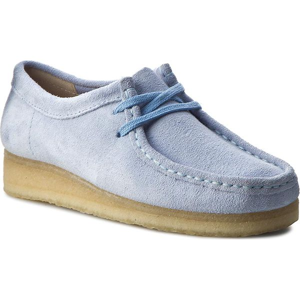7d6c9733d Półbuty CLARKS - Wallabee 261227454 Pastel Blue - Półbuty damskie ...