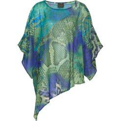 Tunika bluzkowa bonprix niebiesko-ciemnozielony z nadrukiem. Niebieskie tuniki damskie bonprix, z nadrukiem. Za 54.99 zł.