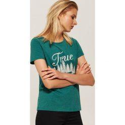 T-shirt z nadrukiem - Turkusowy. T-shirty damskie marki DOMYOS. W wyprzedaży za 19.99 zł.
