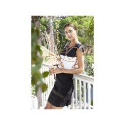 Sukienka geometryczna. Białe sukienki damskie Manifesto art clothes, w abstrakcyjne wzory, z tkaniny. Za 180.00 zł.