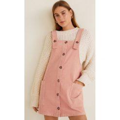 Mango - Sukienka Pan. Różowe sukienki damskie Mango, z bawełny, casualowe, na ramiączkach. Za 119.90 zł.