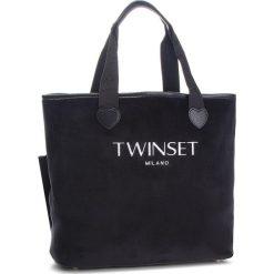Torebka TWINSET - Shopping AA8PF2  Nero 00006. Czarne torebki do ręki damskie Twinset, z materiału. Za 439.00 zł.