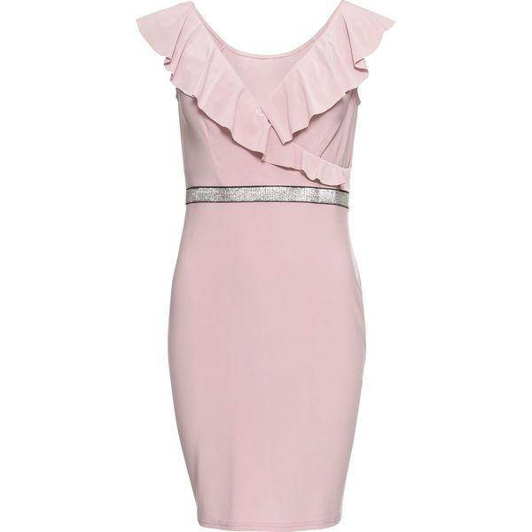 ed0ba6dec5 Sukienka z połyskującym paskiem bonprix dymny różowy - Sukienki ...