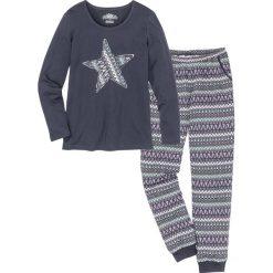 Piżama bonprix nocny niebieski z nadrukiem. Piżamy damskie marki MAKE ME BIO. Za 69.99 zł.