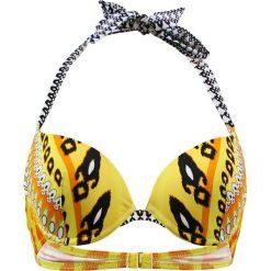"""Biustonosz bikini """"Cavalaire"""" w kolorze żółto-czarno-białym. Biustonosze Val d´Azur, z haftami. W wyprzedaży za 165.95 zł."""