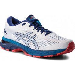 Buty ASICS - Gel-Kayano 25 1011A019 White/Blue Print 100. Białe buty sportowe męskie Asics, z materiału. W wyprzedaży za 529.00 zł.