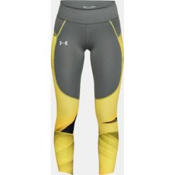 Under Armour Legginsy damskie UA Speedpocket Run Printed Crop szaro-żółte r. S (1323048-709). Legginsy damskie marki DOMYOS. Za 277.67 zł.