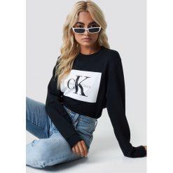Calvin Klein Bluza Hebe True Icon - Black. Czarne bluzy damskie Calvin Klein, z dzianiny. Za 404.95 zł.