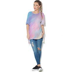 Colour Pleasure Koszulka CP-033  75 błękitno-liliowa r. uniwersalny. Bluzki damskie Colour Pleasure. Za 76.57 zł.