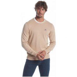 Polo Club C.H..A Sweter Męski M Beżowy. Brązowe swetry przez głowę męskie Polo Club C.H..A, z okrągłym kołnierzem. W wyprzedaży za 239.00 zł.