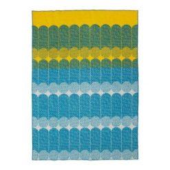 Koc Ekko żółto-niebieski. Niebieskie kocyki dla dzieci Normann Copenhagen, z wełny. Za 580.00 zł.
