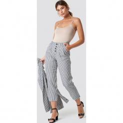 MANGO Spodnie Coco - Blue,Offwhite. Niebieskie spodnie materiałowe damskie Mango. Za 202.95 zł.